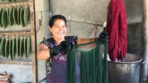 artigianato tessile messico cactus tinta tessuto naturale bludiprussia roma italia