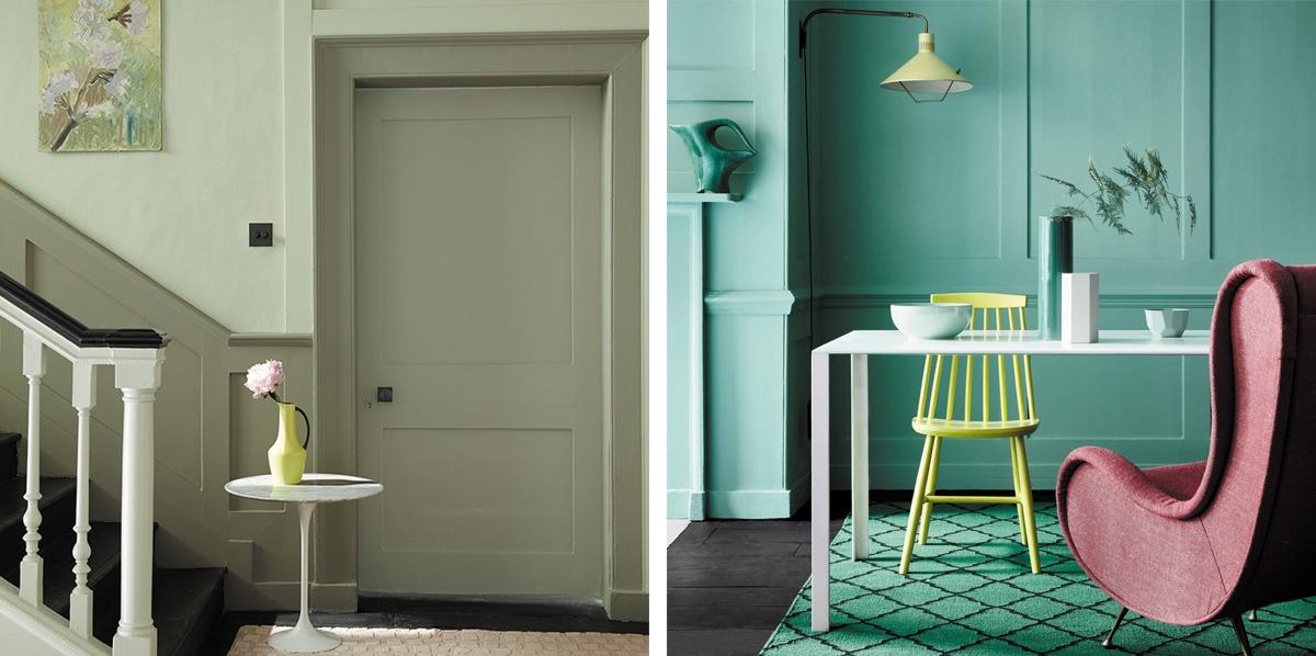 cartella colori verde little greene north brink grey bludiprussia colorificio roma negozio vernici